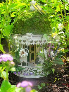 Secret Garden a OOAK Decorative Fairy Home by WhimsicalProperties, $95.00