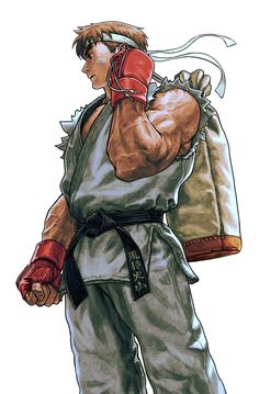 Ryu, Street Fighter series artwork by UG.