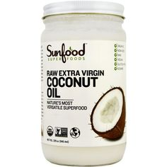 SunFood Coconut Oil 32 fl oz ($20) ❤ liked on Polyvore featuring beauty products, fillers, food, beauty, accessories and makeup