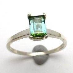 Indicolite Tourmaline Ring Bi Color Handmade Lisajoy by saxdsign