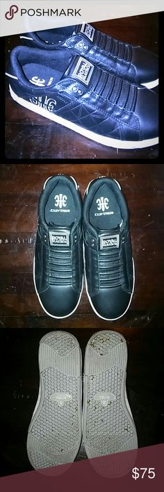Royal Elastics Icon Black Leather Sneakers Made with full grain leather.  The ultimate laceless legend. Ultra-comfort and absolute durability.Recommended for all types of feet, especially comfortable for wide feet. Royal Elastics Shoes Athletic Shoes