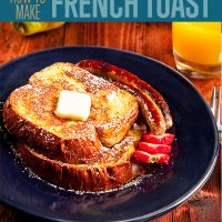 Have you ever wondered how to make the perfect french toast? Need a good french toast recipe and tips?  From my experience it isn't terribly difficult to make french toast. It wasn't until a few of my friends kept asking for an awesome how to on making this classic breakfast dish. There