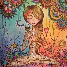 Images tagged with on Picbaba Meditation Art, Yoga Art, Art Journal Inspiration, Painting Inspiration, Namaste Art, Whimsical Art, Female Art, Cute Art, Fantasy Art