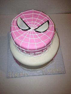 spider girl - Cake by tasteeconfections Girl Superhero Cake, Spiderman Birthday Cake, 4th Birthday Cakes, Superhero Birthday Party, Baby Birthday, Birthday Ideas, Spider Girl, Spider Man Party, Supergirl Cakes
