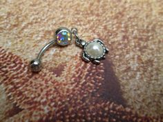 belly button jewelry glass pearl sea turtle body jewelry by sindys