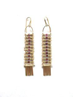 Demimonde Pink Garnet Earrings