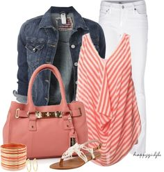"""""""Striped Shirt for Spring/Summer"""" by happygirljlc on Polyvore"""