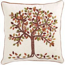 Sunset Tree Beaded Pillow