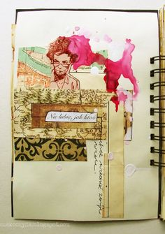 czekoczyna.  oh art journal entries how i love thee.