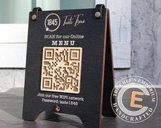 Logo Restaurant, Rustic Restaurant, Restaurant Tables, Wood Menu, Home Wet Bar, Digital Menu, Tabletop Signs, Menu Holders, Wooden Cubes