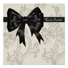 Best Black And White Party Invitations Images On Pinterest - All white party invitations templates