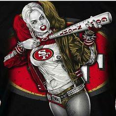 San Francisco Harley Quinn x Fridge Magnet Nfl 49ers, 49ers Fans, San Francisco Baseball, San Francisco 49ers, Joker And Harley, Harley Quinn, National Baseball League, National League, 49ers Pictures