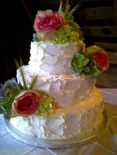 Rustic Farmhouse Wedding Cake.