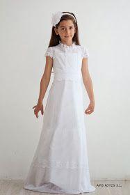 Teresa Palazuelo vestido de comunión para niña Maria Rose, Communion Hairstyles, Amelia Dress, Communion Dresses, First Communion, Flower Girl Dresses, Flower Girls, My Girl, Kids Fashion