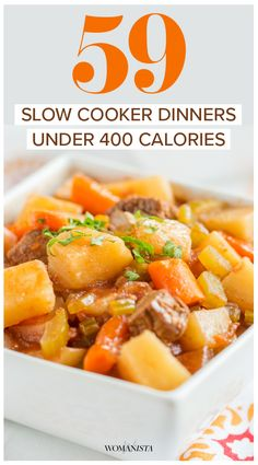 Your healthy dinner could be cooking while you're at work. Check out these 59 under 400 calorie dinners perfect for a busy family! Womanista.com