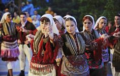 Dances and Costumes of the Miyaks, Galičnik and other villages, Macedonia Macedonia People, People Around The World, Around The Worlds, Traditional Art, Traditional Weddings, Traditional Outfits, Cultural Dance, Festival Wedding, Lets Dance