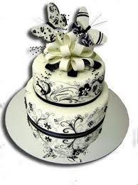 B/W Butterfly cake