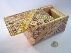 Japanese Puzzle box (Himitsu bako)- 6inch(150mm) Open by Standard 14steps Yosegi