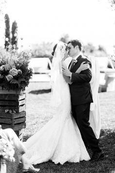 Just gorgeous - #EnzoaniRealBride Erica in our Dakota gown | Carats & Cake
