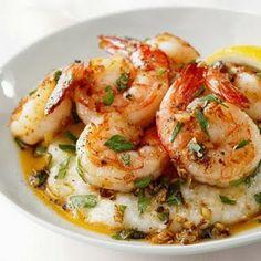 Cooking Pinterest: Shrimp Lemon Garlic Shrimp and Grits Recipe