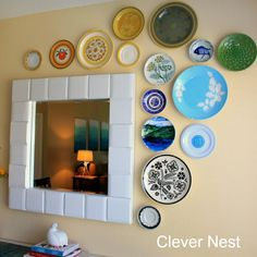 Display your plates in the prettiest of ways with this wall art tutorial!