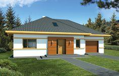 Blanka to zgrabny, pełen uroku niewielki dom o bardzo funkcjonalnym wnętrzu. Design Case, Garage Doors, Exterior, Outdoor Decor, Home Decor, Apartment Plans, Facades, Houses, Decoration Home
