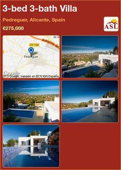 3-bed 3-bath Villa in Pedreguer, Alicante, Spain ►€275,000 #PropertyForSaleInSpain