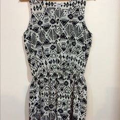 Multi Pattern Romper Gorgeous black and white romper. Excellent condition. Almost new. Soft fabric. Perfect for spring or summer. Other