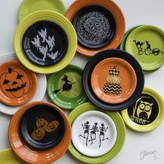 Fiesta Dinnerware's 2017 Halloween collection. Select new pieces available beginning June 2017.   http://www.alwaysfestive.com
