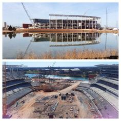 Check out that view of campus! // Construction at #Baylor's McLane Stadium, January 2014
