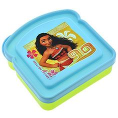 Disney Moana Plastic Sandwich Containers with Lids
