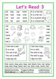 This worksheet is for Elementary school students at Beginner level who learn reading and their vocabulary is not too big. The worksheet is good for developing Reading and Writing skills.There exercises with short Phonics Reading, Reading Comprehension Worksheets, Teaching Phonics, Phonics Worksheets, Kindergarten Reading, Kids Reading, Reading Skills, Teaching Reading, Writing Skills