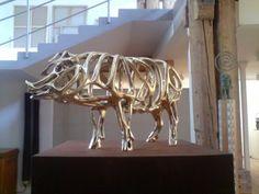 richard Texier sculpture art contemporain pig exhibition
