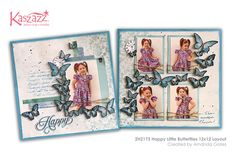 This project will show you how to create a beautiful blue butterfly layout using Perfect Pearls powder and a Dylusions Shimmer Spray to add a little sparkle and shine. Scrapbooking Layouts, Scrapbook Pages, All Tools, Blue Butterfly, Finding Yourself, Workshop, Card Making, Sparkle, Stamp