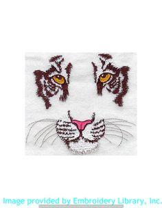 Stickmotiv Stickbild Aufnäher Stickerei Emblem Asien Tiger Tiger / Stickerei Tiger Face (M1101) Datei von www.emblibrary.com