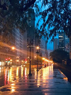 City Iphone Wallpaper, Planets Wallpaper, Rainy City, Rainy Morning, Chicago Travel, Wallpaper Ideas, Law Of Attraction, Illinois, Beautiful Pictures