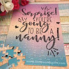 Make a Pregnancy Announcement Puzzle