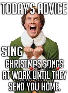 Annoy your coworkers with Christmas carols Work Memes, Work Humor, Holiday Meme, Holiday Crafts, Holiday Decor, Funny Jokes, Hilarious, Funny Minion, It's Funny