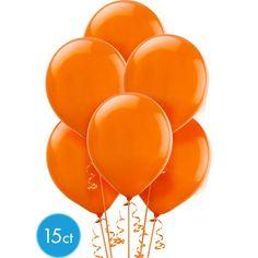 Orange Balloons 15ct