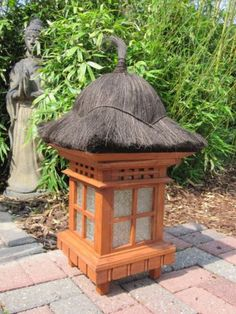 Gartenlampe, Asiatische Pagode aus Holz - Zen- Garten- Lampe für den Garten.sparen25.com , sparen25.de , sparen25.info
