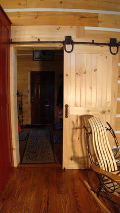 Barn Style Interior Doors - For more Interior Barn Door treatments see InteriorBarnDoors.org