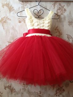 Flower Girl Tutu Dress umpire tutu dress crochet tutu by Qt2t, $69.99
