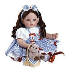 "Adora Wizard Of Oz Dorothy Vinyl 20"" Doll Brown Hair Brown Eyes"