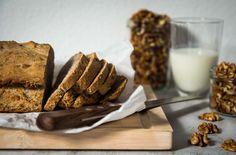 Walnuss Buttermilch Brot Superfood, Bread Baking, Cereal, Meat, Breakfast, Healthy Groceries, Food Food, Sandwich Spread, Baking