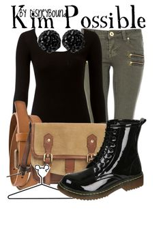 """""""Kim Possible"""" by leslieakay ❤ liked on Polyvore featuring Quiz, Lipsy, Pieces, Zadig & Voltaire, Disney, Swesky and disney"""