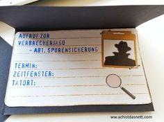 Hier findest du ALLES für einen gelungenen Detektivgeburtstag! Einladung, Kuchen, Deko, Spiele, Geschenkideen, Mitgebsel, T-Shirts, ganz viele Ideen zum Selbermachen mit freebies! http://www.achistdasnett.com/motto-geburtstage/detektivgeburtstag