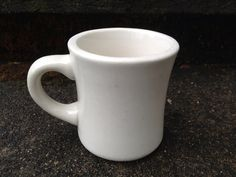 Vintage Restaurant Ware White Coffee Mug Vitrified by N2theFLOW