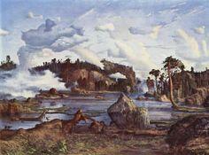 Lars Hertervig Skogtjern Date 1865 Atlantis, Landscape Art, Landscape Paintings, Prince, Edvard Munch, Plastic Art, Art Case, Artist Names, Archipelago