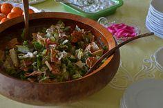 Fattoush salad. Crisp, lemony, lovely.