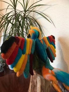 Your place to buy and sell all things handmade Needle Felted Animals, Felt Animals, Needle Felting, Felt Birds, Tropical Birds, Soft Sculpture, Beautiful Birds, Whimsical, Dinosaur Stuffed Animal